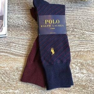 Unisex Ralph Lauren 2 Pair Sock Bundle
